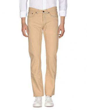 Джинсовые брюки JAGGY. Цвет: песочный