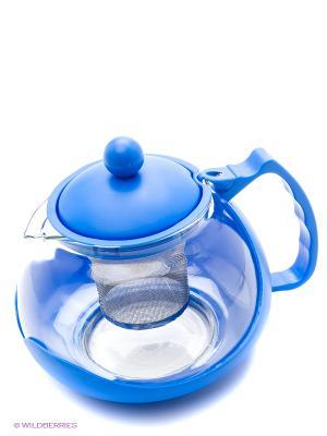 Заварочный чайник Bekker. Цвет: голубой