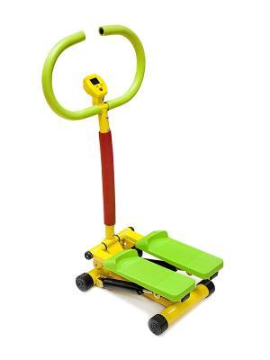 Тренажер детский STAR FIT KT-101 Степпер с ручкой starfit. Цвет: салатовый, желтый