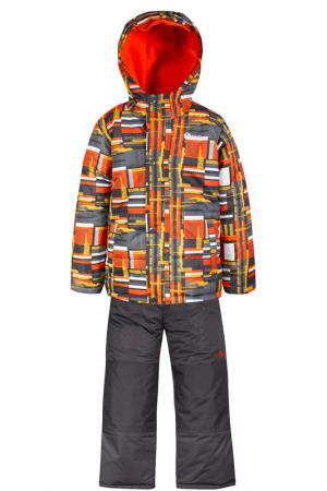 Комплект SALVE. Цвет: серый, оранжевый, древесный уг