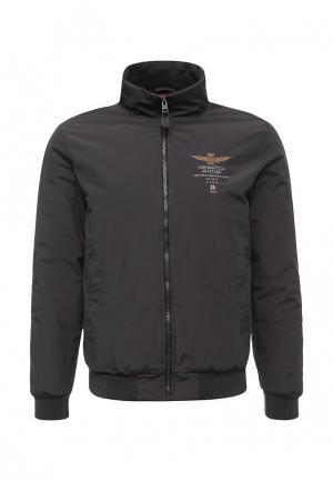 Куртка утепленная Aeronautica Militare. Цвет: серый