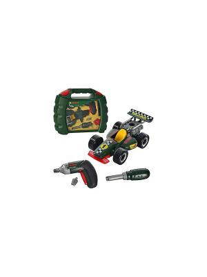 Набор инструментов BOSCH со сборной моделью гоночного автомобиля KLEIN. Цвет: зеленый
