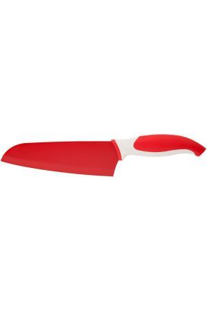 Нож сантоку 7'' Granchio. Цвет: красный