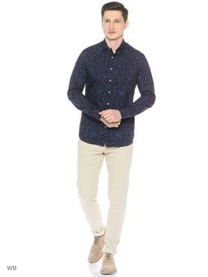 Рубашка - VARELA MANGO MAN. Цвет: темно-бордовый, голубой