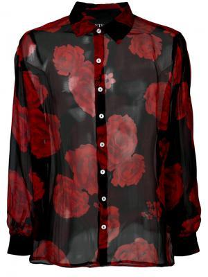 Рубашка с цветочным принтом Enfants Riches Deprimes. Цвет: чёрный