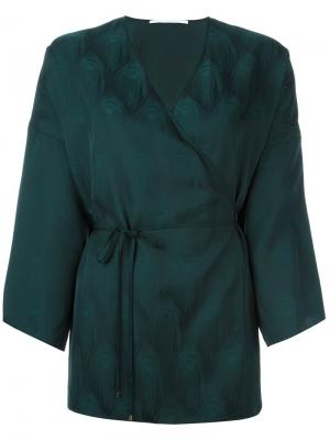 Блузка-кимоно Rosetta Getty. Цвет: зелёный