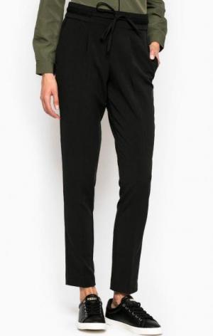 Черные брюки с карманами TOM TAILOR. Цвет: черный