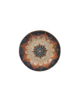 Тарелка Шимла Elff Ceramics. Цвет: бежевый, красный, серый