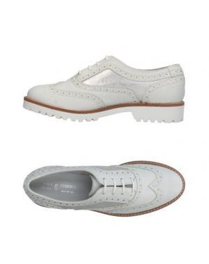 Обувь на шнурках ANTICA CUOIERIA. Цвет: белый