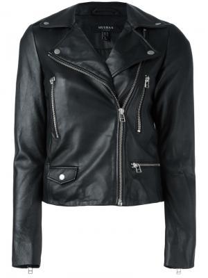 Байкерская куртка Muubaa. Цвет: чёрный