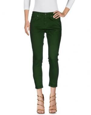 Джинсовые брюки 2W2M. Цвет: зеленый