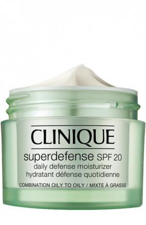 Крем Superdefence для жирной и комбинированной кожи Clinique. Цвет: бесцветный