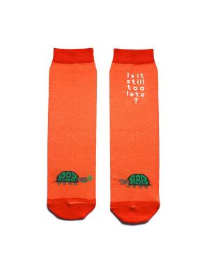 Носки махровые Big Bang Socks. Цвет: оранжевый