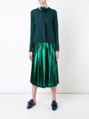 Draped appliqué jumper Muveil. Цвет: зелёный