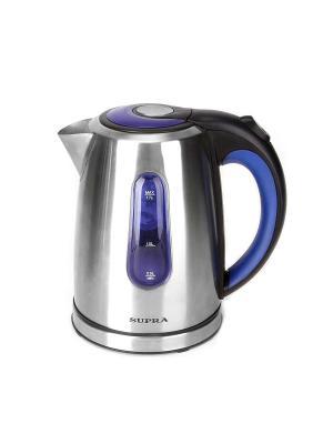 Чайник Supra KES-1738 1.7л. 2200Вт серебристый (нержавеющая сталь). Цвет: белый