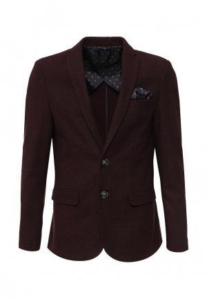 Пиджак Piazza Italia. Цвет: бордовый