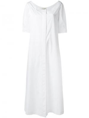 Платье-рубашка Isa Arfen. Цвет: белый