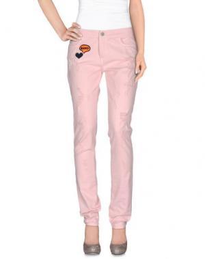 Повседневные брюки GIAMBA. Цвет: розовый