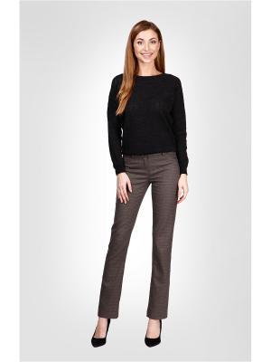 Брюки Milana Style. Цвет: серо-коричневый