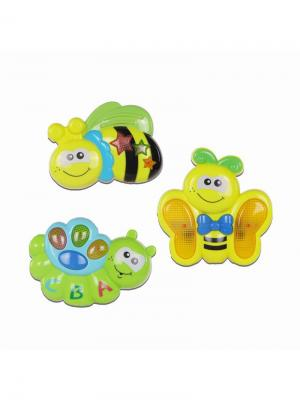 Игрушки музыкальные для малышей (набор) HUILE. Цвет: светло-желтый