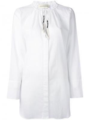 Рубашка с вырезом на завязках By Malene Birger. Цвет: белый