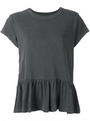 Peplum T-shirt The Great. Цвет: серый
