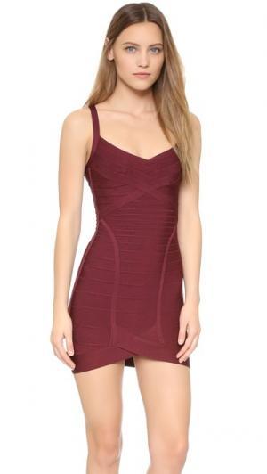 Платье Dahna Herve Leger. Цвет: красный