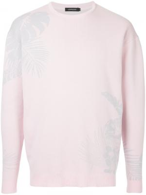 Джемпер вязки интарсия Loveless. Цвет: розовый и фиолетовый