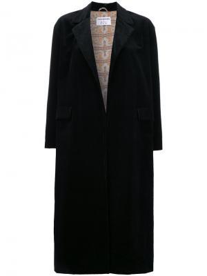 Пальто из вельвета N Duo. Цвет: чёрный
