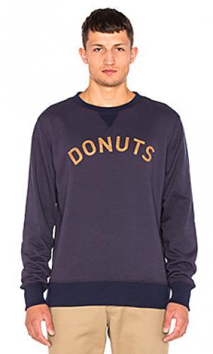 Свитшот с круглым вырезом donuts Altru. Цвет: синий