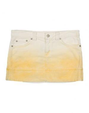 Джинсовая юбка DONDUP DQUEEN. Цвет: желтый
