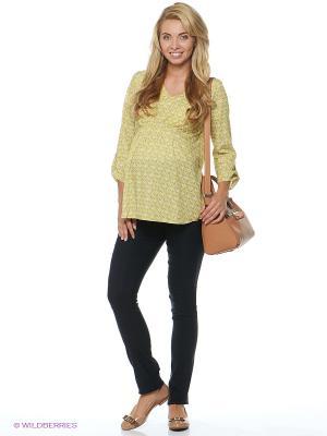 Блузка для беременных ФЭСТ. Цвет: желтый