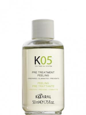 К05 Лосьон для предварительного нанесения (для глубокого очищения) Pre-Treatment Peeling 50мл. Kaaral. Цвет: белый
