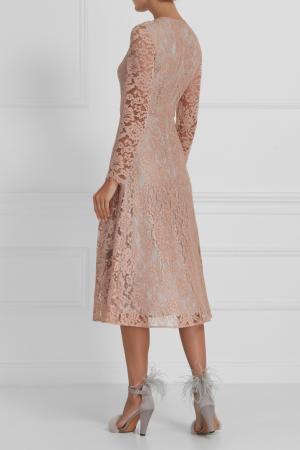 Платье из кордового кружева A LA RUSSE. Цвет: розовый