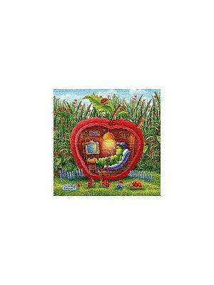 Гобеленовая наволочка  УЮТНОЕ МЕСТЕЧКО (Е.ШИШКИН) 50х50 см Рапира. Цвет: зеленый, рыжий