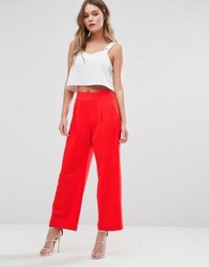 Alter Укороченные брюки. Цвет: красный