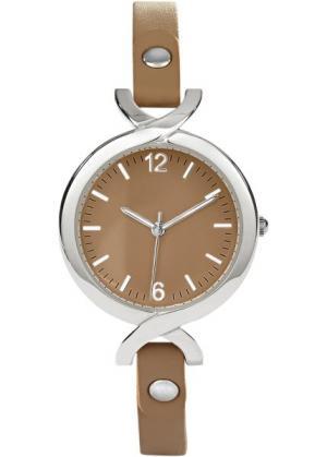 Часы на узком браслете (телесный) bonprix. Цвет: телесный