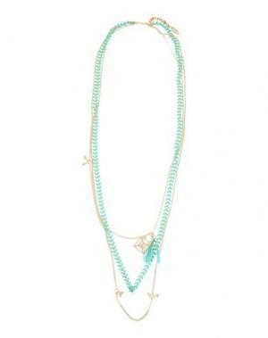 Ожерелье PATRIZIA PEPE. Цвет: зеленый