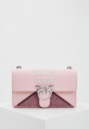 Сумка Pinko. Цвет: розовый