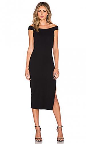 Толстое вязаное в рубчик платье wen Rachel Pally. Цвет: черный