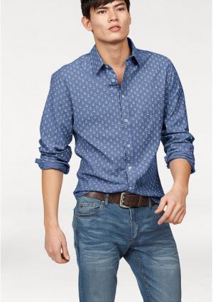 Рубашка JOHN DEVIN. Цвет: синий/с рисунком