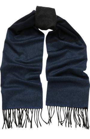 Кашемировый шарф с бахромой Lanvin. Цвет: темно-синий