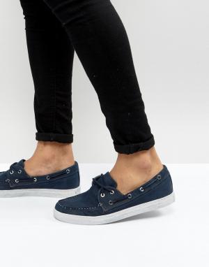 Armani Jeans Выбеленные темно-синие парусиновые мокасины. Цвет: темно-синий