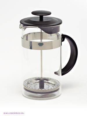 Кофейник Френч-пресс Bekker. Цвет: черный (осн.), серебристый, прозрачный