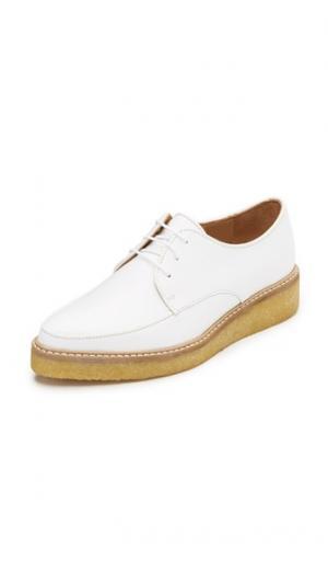 Ботинки на шнурках платформе Nina SWEAR. Цвет: белый