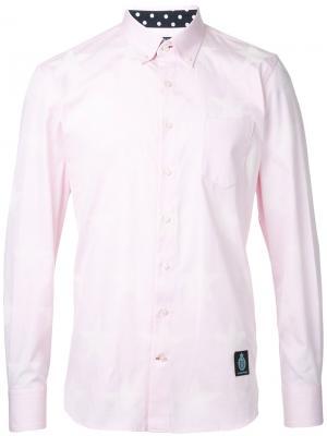 Рубашка с заплаткой логотипом Guild Prime. Цвет: розовый и фиолетовый