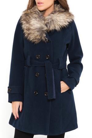 Пальто SHES SECRET SHE'S. Цвет: синий