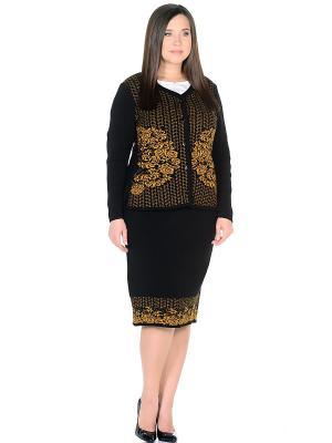 Костюм (кардиган+юбка), модель Ира Dorothy's Нome. Цвет: желтый, черный