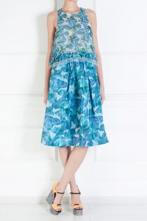 Платье с принтом Thakoon. Цвет: синий, голубой, бирюзовый