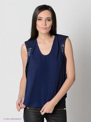 Топ Vero moda. Цвет: темно-синий